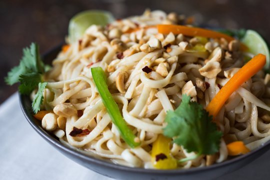 Portable Recipe: Cold Noodle Salad with Creamy Peanut Sauce