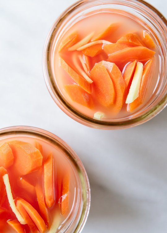 Hugh Acheson's Fermented Carrots with Galangal and Lime